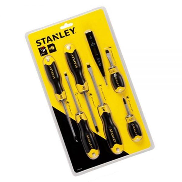 STANLEY ชุดไขควง6ชิ้น+ไขควงลองไฟดิจิตอล
